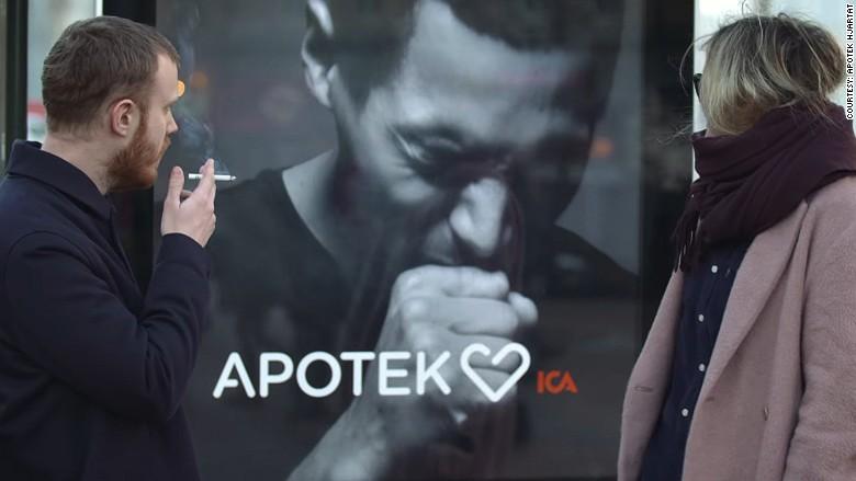 Η διαφημιστική πινακίδα που βήχει ότανκαπνίζεις!